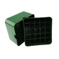Коробка для патронов Супердак (Superduck) на 25 патронов 12 калибра зеленая