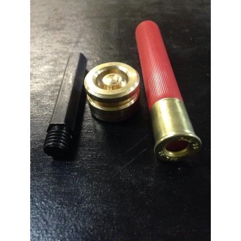 Матрица дробовая бронзовая для вальцовки гильз 12 калибра + втулка для шуруповёрта