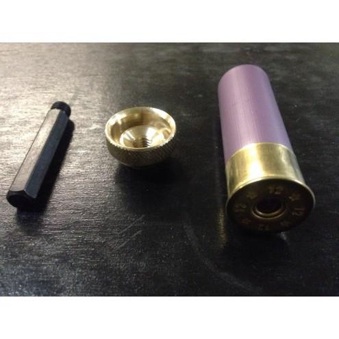 Матрица пулевая бронзовая для вальцовки гильз 12 калибра + втулка для шуруповёрта