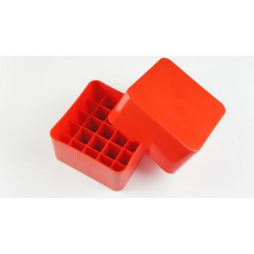 Коробка для патронов Супердак (Superduck) на 25 патронов 12 калибра оранжевая